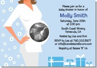 Sonogram It's A Boy - Baby Shower Invitations