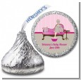 Spa Mom Pink - Hershey Kiss Baby Shower Sticker Labels thumbnail