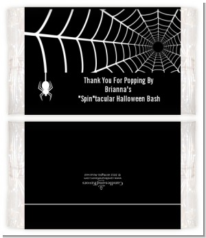 Spider - Personalized Popcorn Wrapper Halloween Favors