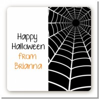 Spider - Square Personalized Halloween Sticker Labels
