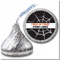 Spiders Web - Hershey Kiss Halloween Sticker Labels