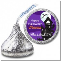 Spooky Haunted House - Hershey Kiss Halloween Sticker Labels
