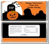 Spooky Pumpkin - Personalized Halloween Candy Bar Wrappers