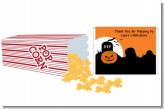 Spooky Pumpkin - Personalized Popcorn Wrapper Halloween Favors