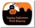 Spooky Pumpkin - Personalized Halloween Rounded Corner Stickers thumbnail