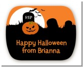 Spooky Pumpkin - Personalized Halloween Rounded Corner Stickers