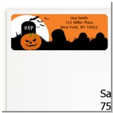 Spooky Pumpkin - Halloween Return Address Labels