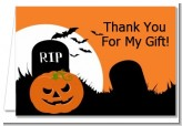Spooky Pumpkin - Halloween Thank You Cards