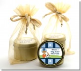 Sports Baby African American - Baby Shower Gold Tin Candle Favors