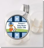 Sports Baby African American - Personalized Baby Shower Candy Jar