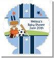 Sports Baby African American - Personalized Baby Shower Centerpiece Stand thumbnail