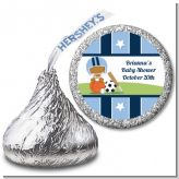 Sports Baby African American - Hershey Kiss Baby Shower Sticker Labels