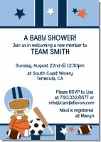 Sports Baby African American - Baby Shower Invitations