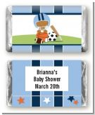 Sports Baby African American - Personalized Baby Shower Mini Candy Bar Wrappers