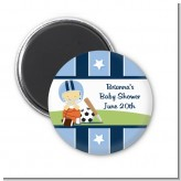 Sports Baby Asian - Personalized Baby Shower Magnet Favors