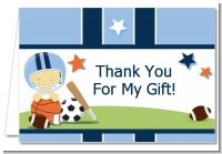 Sports Baby Asian - Baby Shower Thank You Cards