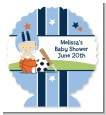 Sports Baby Caucasian - Personalized Baby Shower Centerpiece Stand thumbnail