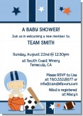 Sports Baby Caucasian - Baby Shower Invitations