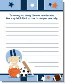 Sports Baby Caucasian - Baby Shower Notes of Advice