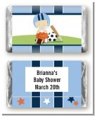 Sports Baby Caucasian - Personalized Baby Shower Mini Candy Bar Wrappers