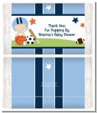 Sports Baby Caucasian - Personalized Popcorn Wrapper Baby Shower Favors
