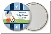 Sports Baby Caucasian - Personalized Baby Shower Pocket Mirror Favors