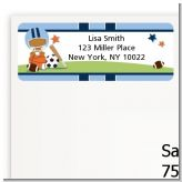 Sports Baby African American - Baby Shower Return Address Labels