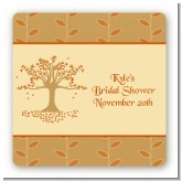 Autumn Tree - Square Personalized Bridal Shower Sticker Labels
