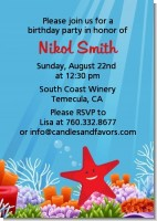 Starfish - Birthday Party Invitations