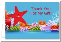 Starfish - Birthday Party Thank You Cards