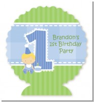 1st Birthday Boy - Personalized Birthday Party Centerpiece Stand