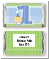 1st Birthday Boy - Personalized Birthday Party Mini Candy Bar Wrappers