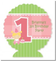 1st Birthday Girl - Personalized Birthday Party Centerpiece Stand