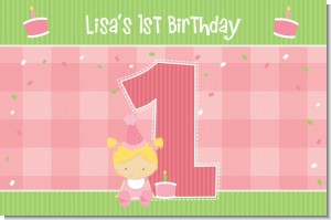 1st Birthday Girl - Personalized Birthday Party Placemats