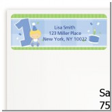 1st Birthday Boy - Birthday Party Return Address Labels