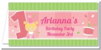 1st Birthday Girl - Personalized Birthday Party Place Cards