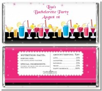 Stock the Bar Cocktails - Personalized Bachelorette Party Candy Bar Wrappers