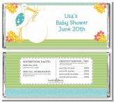 Stork It's a Boy - Personalized Baby Shower Candy Bar Wrappers