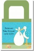 Stork It's a Boy - Personalized Baby Shower Favor Boxes