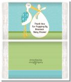 Stork It's a Boy - Personalized Popcorn Wrapper Baby Shower Favors