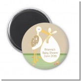 Stork Neutral - Personalized Baby Shower Magnet Favors