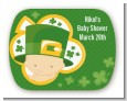 St. Patrick's Baby Shamrock - Personalized Baby Shower Rounded Corner Stickers thumbnail