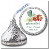 Succulents - Hershey Kiss Bridal Shower Sticker Labels