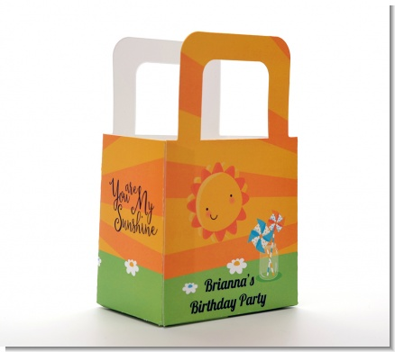 You Are My Sunshine - Personalized Birthday Party Favor Boxes