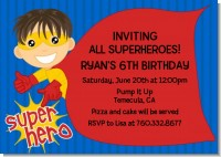 Superhero Boy - Birthday Party Invitations