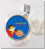 Superhero Boy - Personalized Birthday Party Candy Jar
