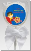 Superhero Boy - Personalized Birthday Party Lollipop Favors