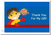 Superhero Boy - Birthday Party Thank You Cards