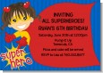 Superhero Girl - Birthday Party Invitations thumbnail