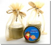 Superhero Girl - Birthday Party Gold Tin Candle Favors